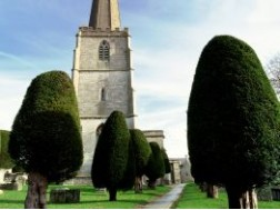 "71. The ""grandest churchyard in England"" with (just over) 99 yew trees"