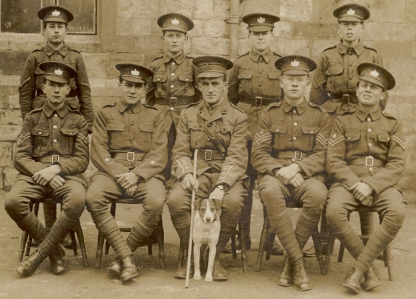 The grammar school Cadet Corps around 1914.