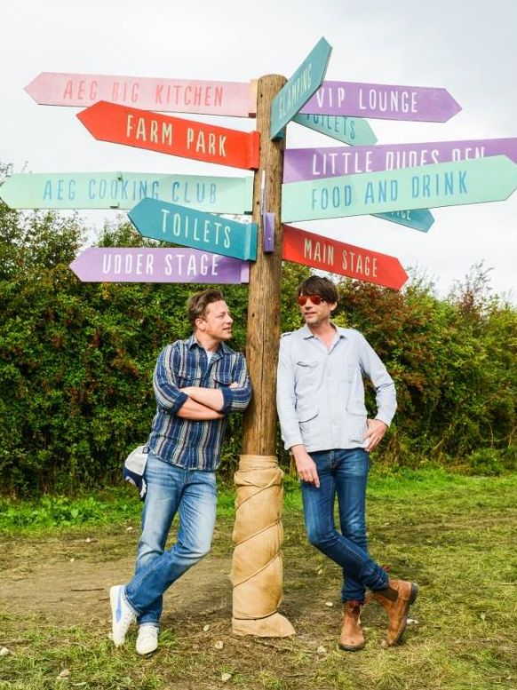 Jamie Oliver and Alex James can't wait for this year's Big Feastival.