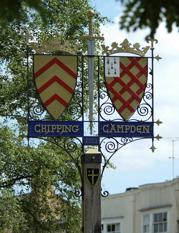 Chipping Campden's town sign. Picture courtesy Cotswolds Conservation Board