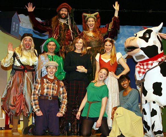 Amanda Holden with the cast of Jack and the Giant in 2013.