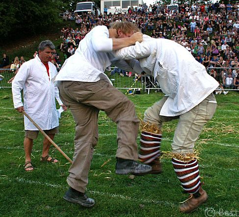 The Shin-kicking World Championships take place each year at the Cotswold Olimpicks, held at Dover's Hill, near Chipping Campden. Picture © Betty Stocker