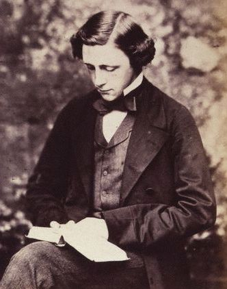 A portrait of Lewis Carroll in 1856.