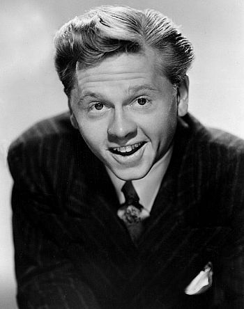 Hollywood actor Mickey Rooney, who spent time during the Second World War in the Cotswolds while serving with the American Army.