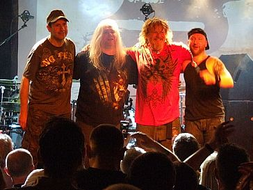 Stroud-based band Pendragon pictured at a concert in 2010.