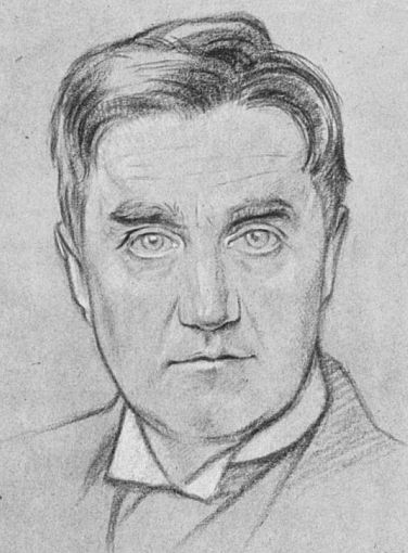 Ralph Vaughan Williams in 1919 by William Rothenstein.