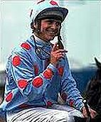 Willie Carson after winning the 1980 Derby on Henbit.