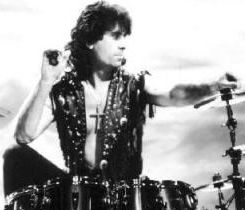 Cozy Powell pictured in 1990 as a member of Black Sabbath.