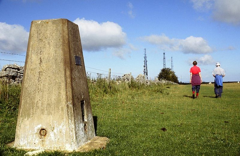 The highest spot on Cleeve Hill, the highest point in the Cotswolds.