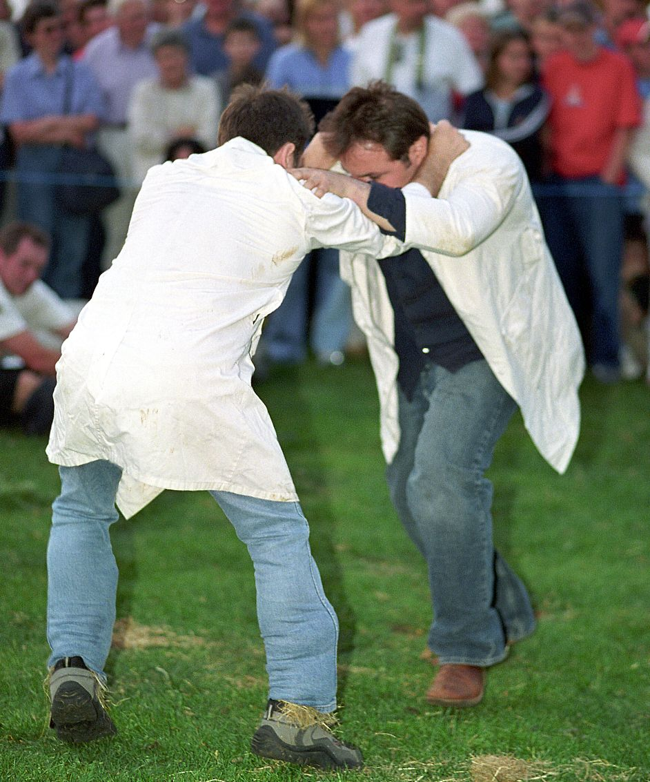 Shin-kicking is one of the undoubted highlights of the Cotswold Olimpicks.