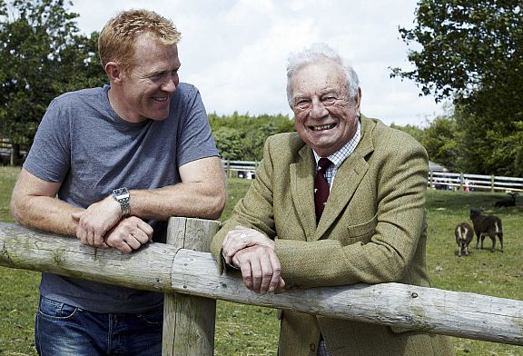 Adam Henson, who runs the Cotswold Farm Park, which was founded by his father Joe (right), has become a familiar face on television.