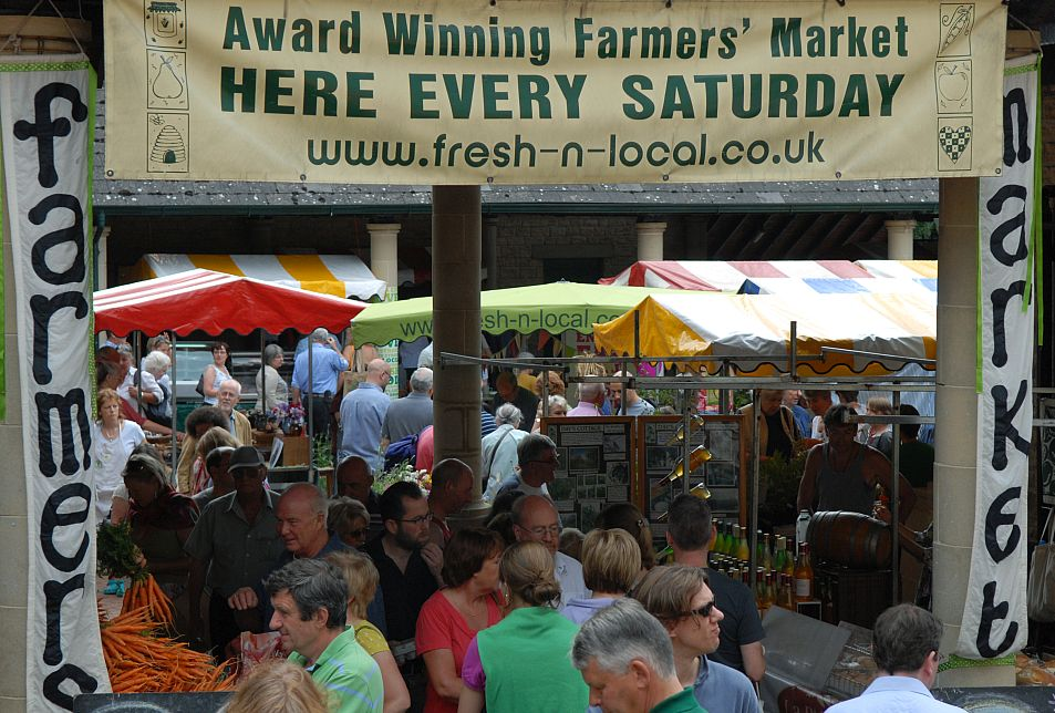 Stroud Farmers Market, held every Saturday, has twice been voted the best in the UK.