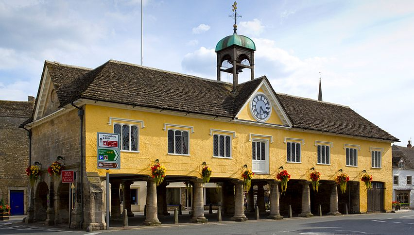 Tetbury Market Hall, dating back to 1655, has been used as a market place, fire station and gaol.
