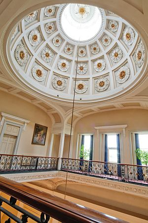 The Pump Room's fabulous dome.