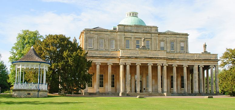 The magnificent Pittville Pump Room, Cheltenham's Regency architectural gem, built in 1830.