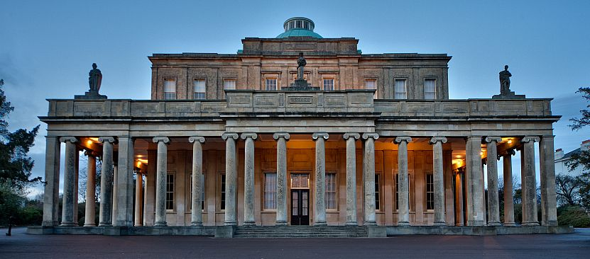 Pittville Pump Room at night. Picture by Bill Baghshaw.