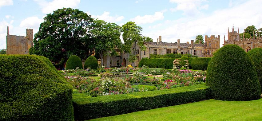 Nine glorious gardens surround Sudeley Castle.