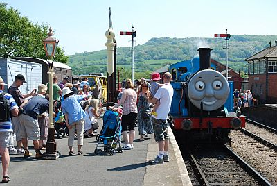 Thomas the Tank Engine at Winchcombe station. Picture by Ian Crowder/GWSR