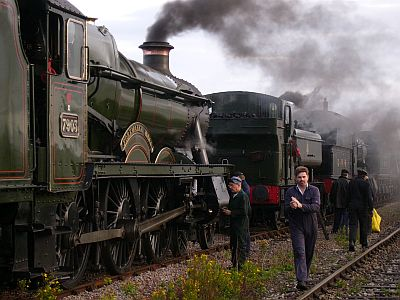 Volunteers with one of the GWR engines. Picture by Ian Crowder/GWSR