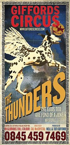"The poster for Giffords Circus 2014 ""The Thunders"" tour."