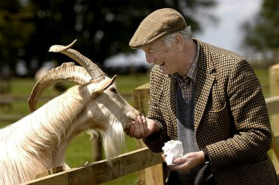 The late Joe Henson, who opened the Cotswold Farm Park in 1971.