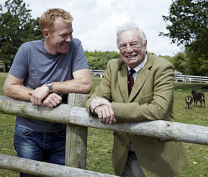 Father and son: Adam Henson with his late father Joe at the Cotswold Farm Park.
