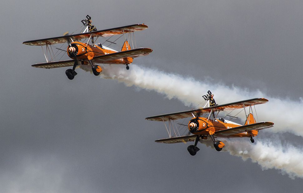 The Air Tattoo provides dramatic scenes in the skies about RAF Fairford.