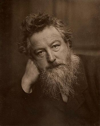 William Morris, a leading figure in the Cotswolds' Arts and Crafts Movement.