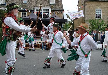 The Charlbury Morris Men in action.