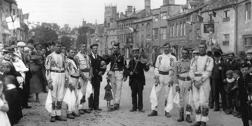 Chipping Campden Morris Men pictured in Campden's High Street 1896.