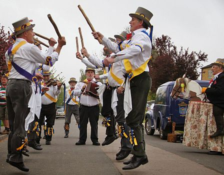 The Ilmington Morris Men performing on May Day 2014. Picture by Julia Lindop.