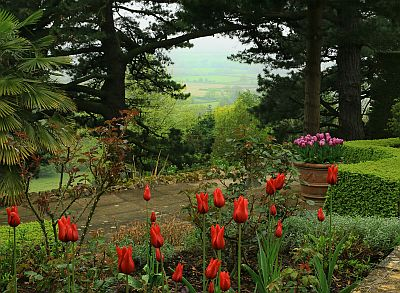 The view towards Mickleton from Kiftsgate Court Gardens.