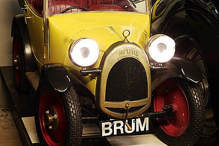 "The museum's star attraction - Brum the ""super hero car"" with his own TV show."