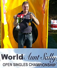 Steve McAteer from Paxford, near Chipping Campden, who won the Aunt Sally World Championship in both 2012 and 2013.