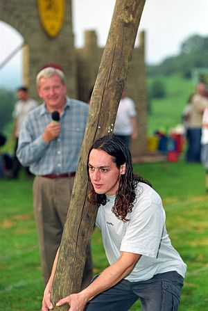 "A contestant ""spurning the barre"" at the Cotswold Olimpicks. Picture courtesy Cotswolds Conservation Board."