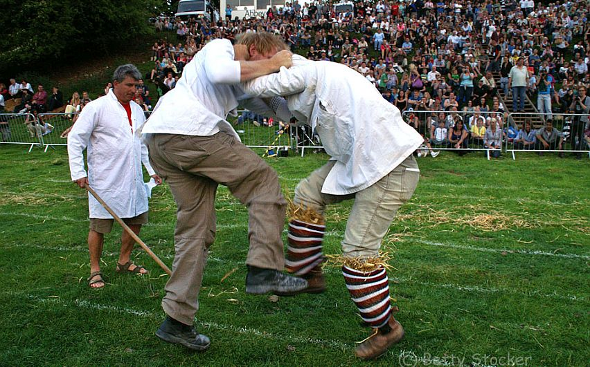Shin-kicking is the showpiece event at the Robert Dover's Cotswold Olimpicks. Picture by Betty Stocker.