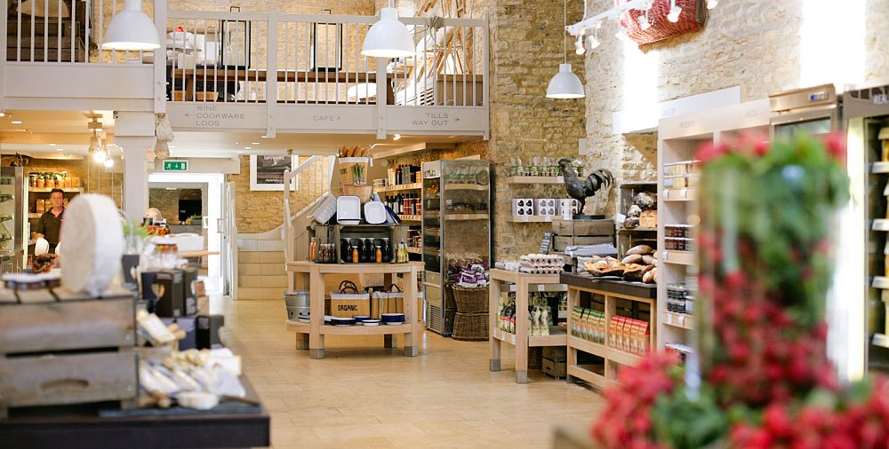 Daylesford farmshop near Kingham draws customers from far and wide.
