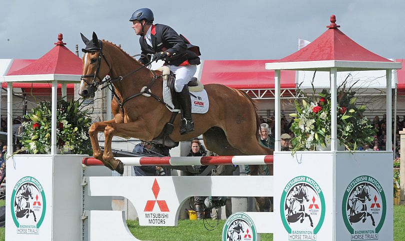 Oliver Towned riding Armada in the show jumping at Badminton. Picture © Mitsubishi Motors / Kit Houghton