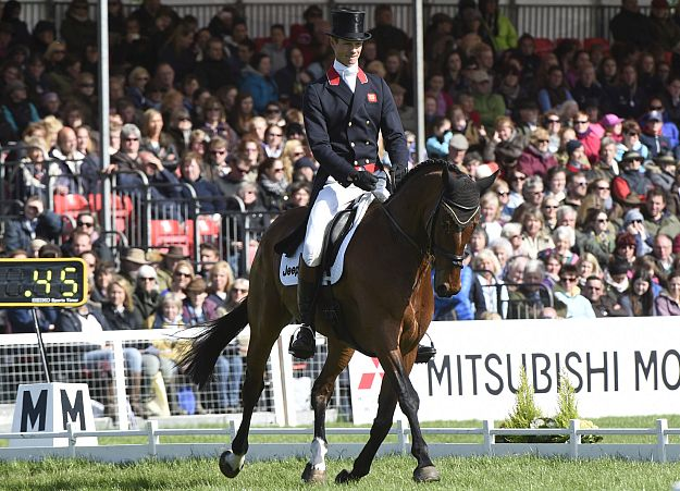 Olympic silver medallist William Fox-Pitt riding Parklane Hawk in the dressage at Badminton. Picture © Mitsubishi Motors / Kit Houghton