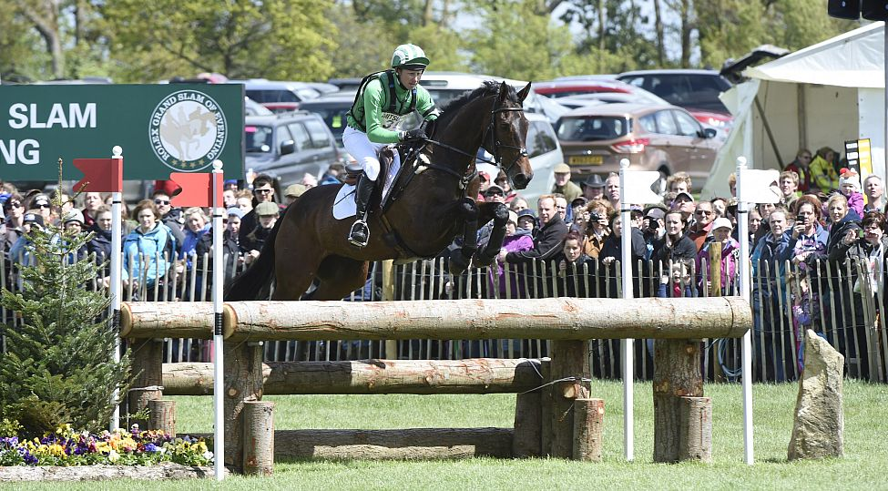 Michael Owen riding The Highland Prince in the cross country at the 2014 Badminton Horse Trials. Picture © Mitsubishi Motors / Kit Houghton