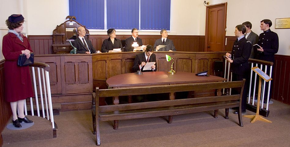 Visitors to Tetbury Police Museum can see how a magistrates court hearing would have looked around 1950.