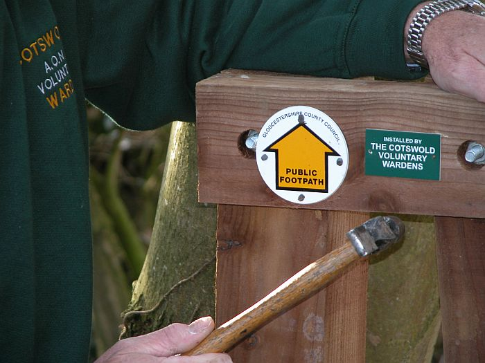 Helping to keep footpaths open is one of the varied roles of the Cotswold Voluntary Wardens. Picture © Cotswolds Conservation Board