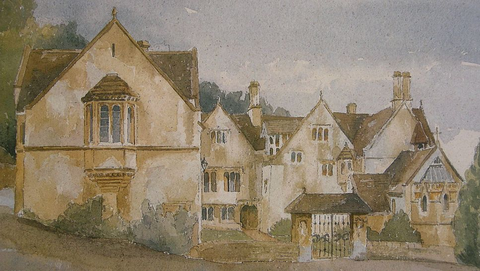 A watercolour of Prinknash Abbey by one of the monks.