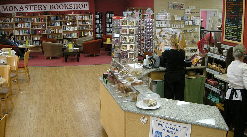The shop and tea room at Prinknash Abbey.