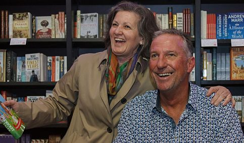 "Cricket legend Ian ""Beefy"" Botham provided plenty of smiles when he appeared at the 2013 Cheltenham Literature Festival."