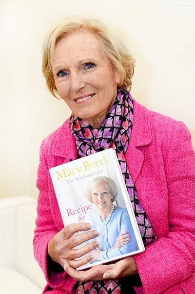 Cookery writer and TV presenter Mary Berry was a popular speaker at the 2013 Cheltenham Literature Festival.