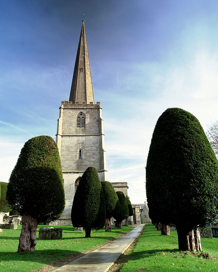 The churchyard of St Mary's, Painswick, attracts as much, if not more, interest from visitors as the 15th Century church building. Picture © Cotswolds Conservation Board.