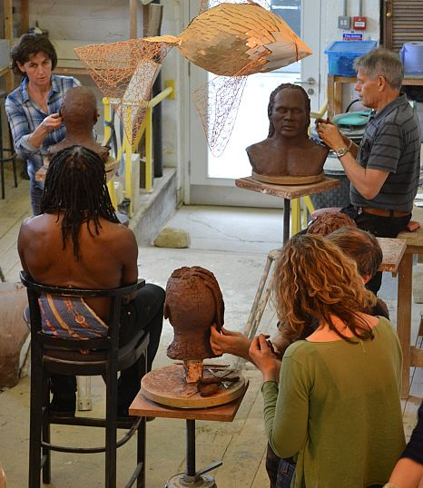 A sculpture workshop in progress at New Brewery Arts.