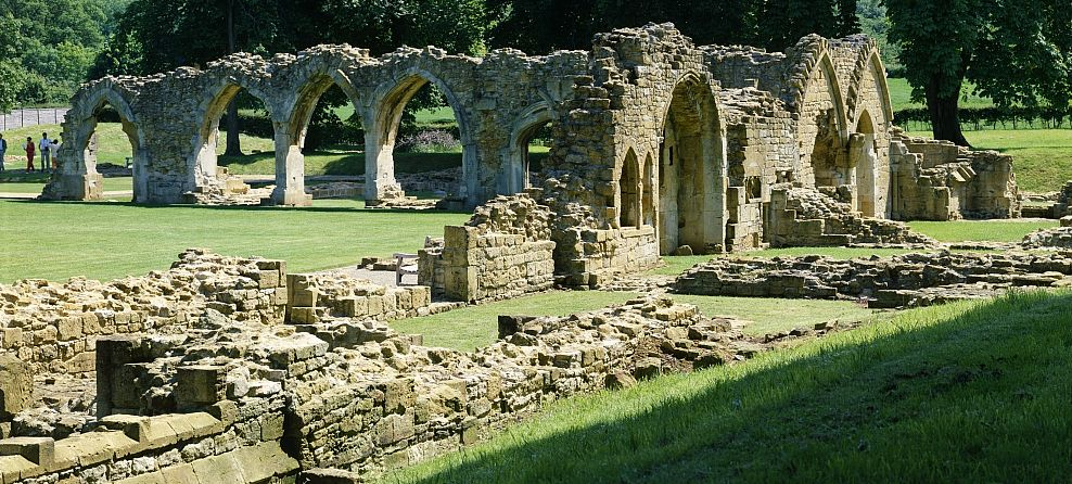 Little remains today of Hailes Abbey which was once a great Cistercian abbey. Picture courtesy English Heritage