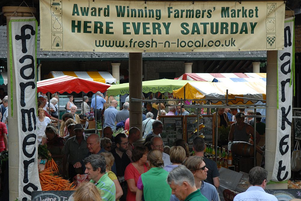 Stroud Farmers' Market has twice been judged to be the best in the UK.